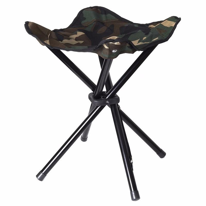 Inklapbare camping stoel kruk