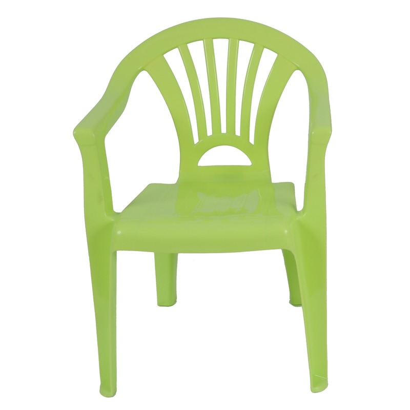 Groen kinderstoeltje plastic 37 x 31 x 51 cm