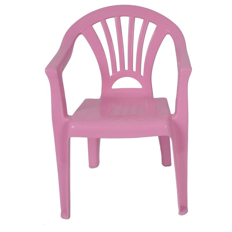 Roze kinderstoeltje plastic 37 x 31 x 51 cm