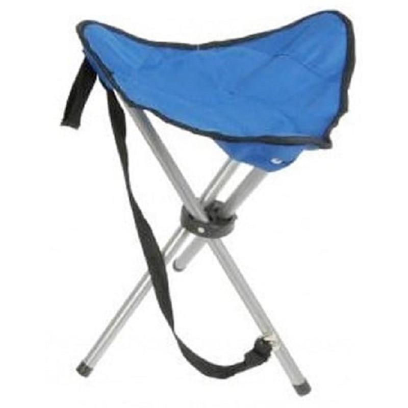 Campingkrukje driepoot blauw